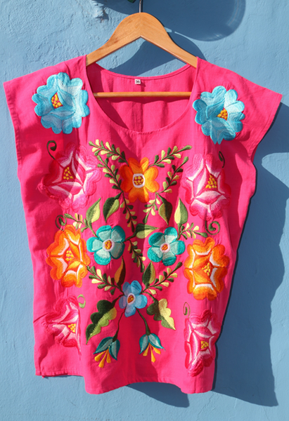 Blusa Frida Color Rosa Mexicano