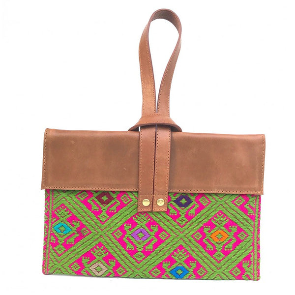 BOLSA CLUTCH MANERAL CAFE