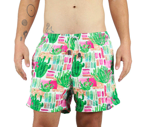 A.SHORT PLAYA ESTAMPADO CACTUS