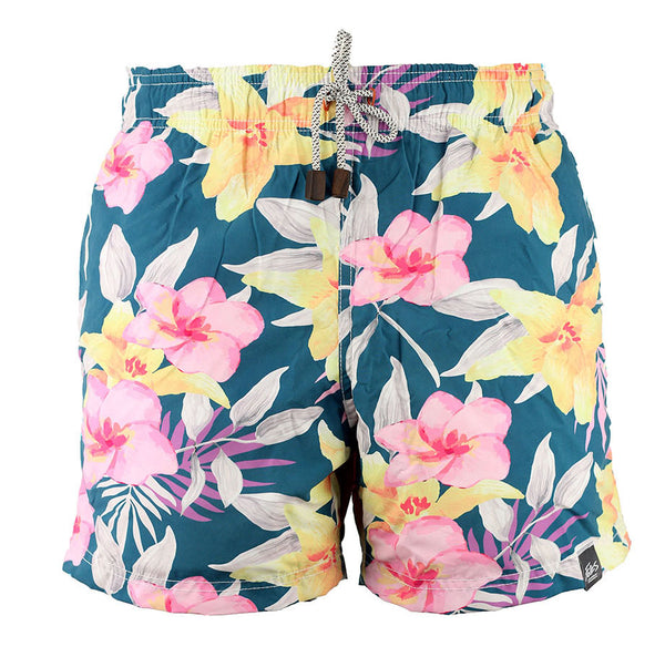 A. SHORT PLAYA ESTAMPADO FLORES PASTEL