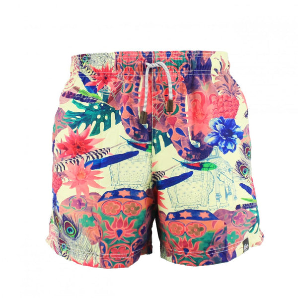 A. SHORT PLAYA ESTAMPADO TIGRE
