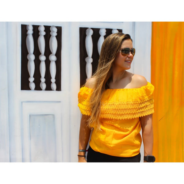 OFF THE SHOULDER DE MANTA