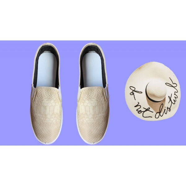 SLIP ON SERPIENTE BEIGE
