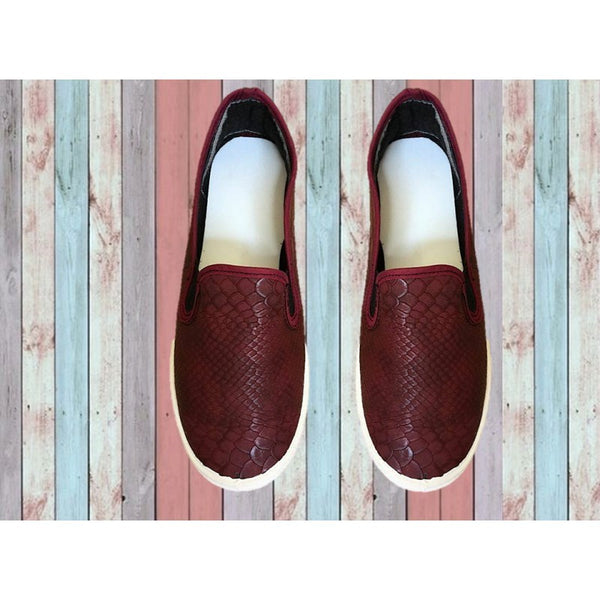 SLIP ON SERPIENTE VINO