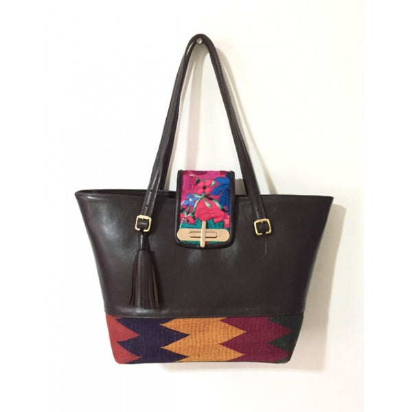 TRIBAL TOTE CHOCOLATE