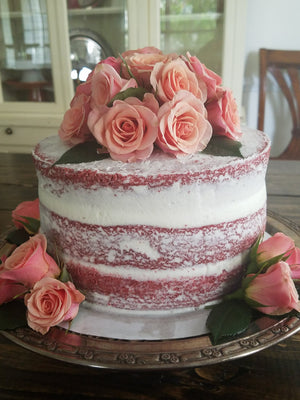 Naked cakes, Cakes with flowers, Red Velvet cake