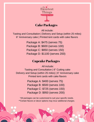 Wedding Cake Package Prices
