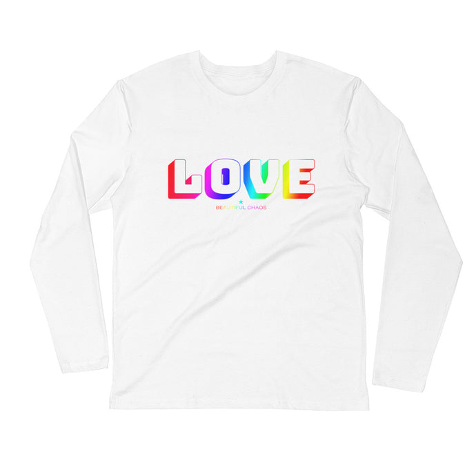 Love In All Colours Men's Long Sleeve Fitted Crew - Beautiful Chaos™