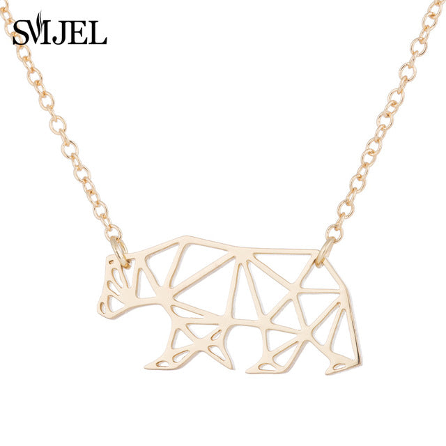 Geometric Bear Necklaces