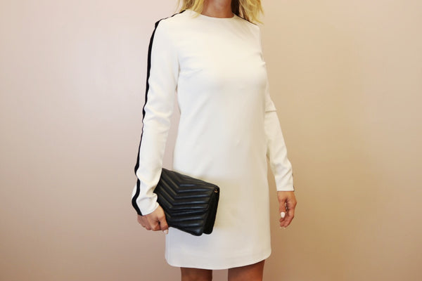 Porte Privé White Dress w/ Velvet