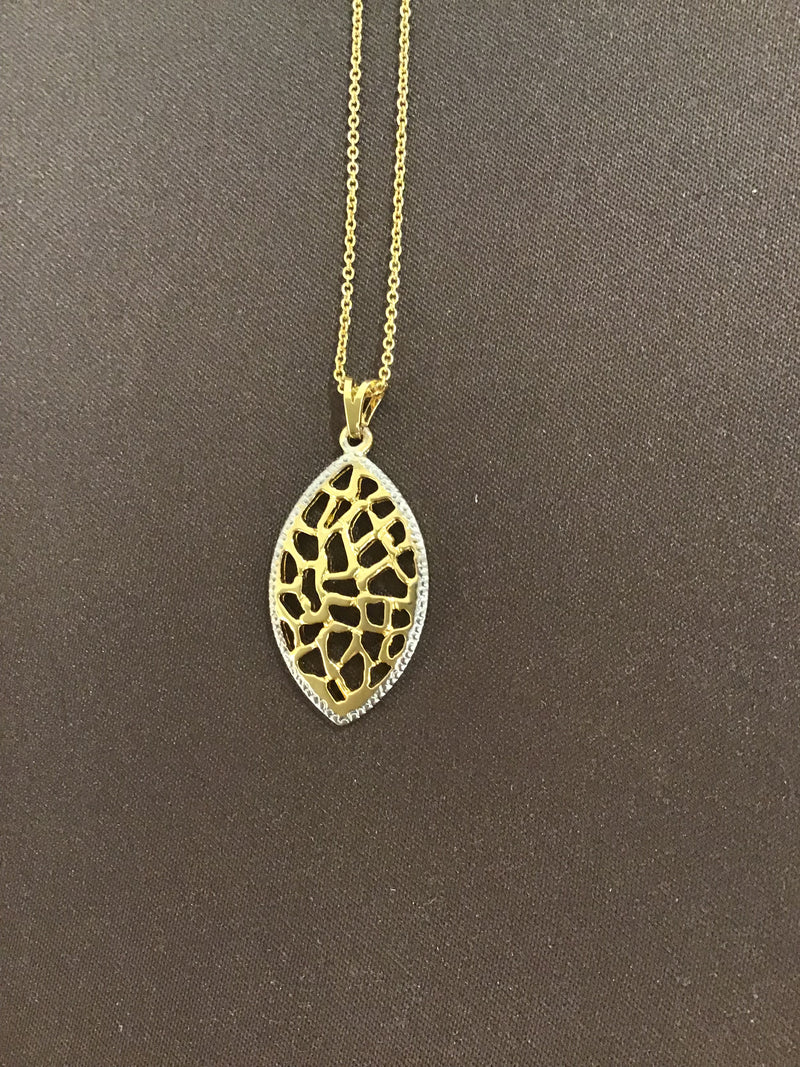 Gilded Leaf Necklace