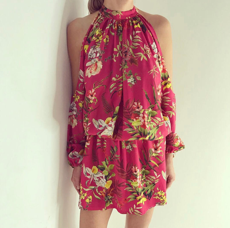 Just Paul Raspberry Daffodil Alaia Dress