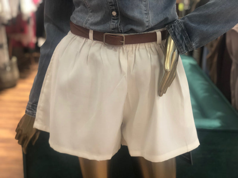 Cotton Shorts White Outlet