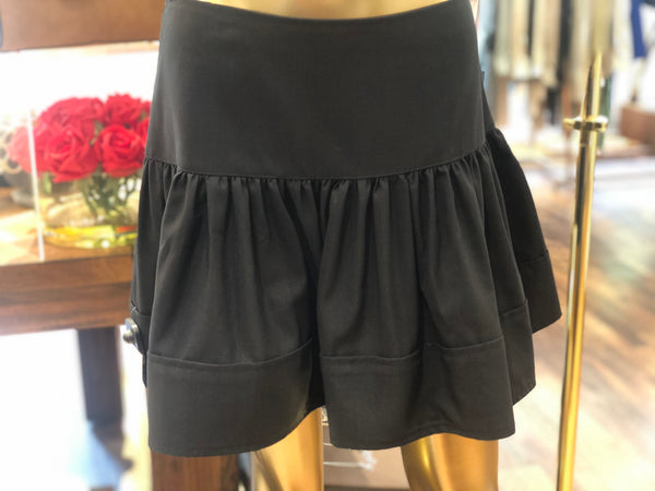 Porte Prive Black Wavy Skirt