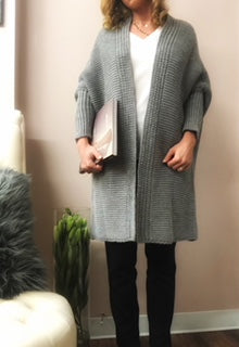 Cardigan Blueshadow Gray Outlet