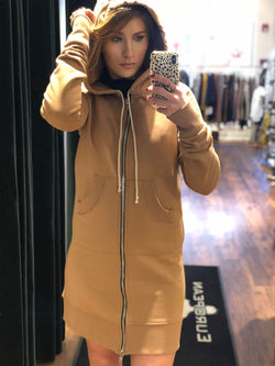 Long Sweatshirt with Zipper Outlet