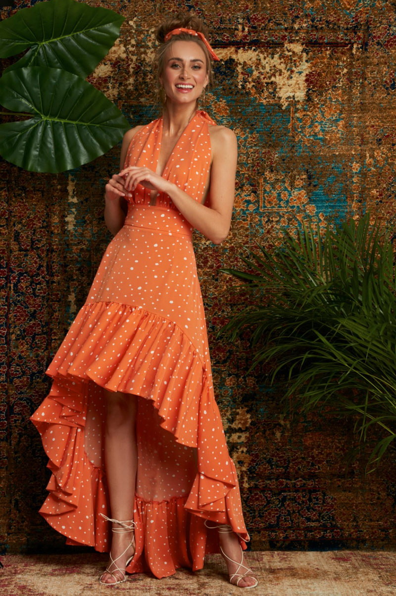 MAARE LETICIA ORANGE DRESS