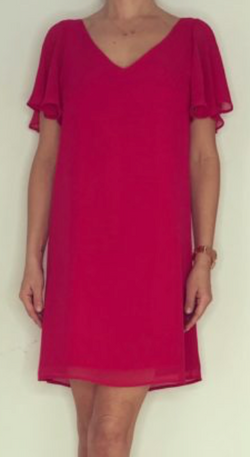 Just Paul  Pale Raspberry Papillon Dress