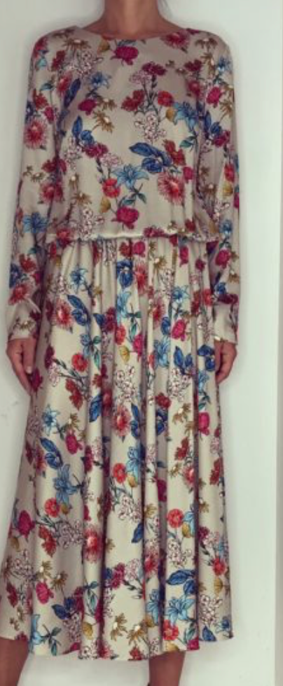 Just Paul Vanilla Butterfly Bush Lea Dress