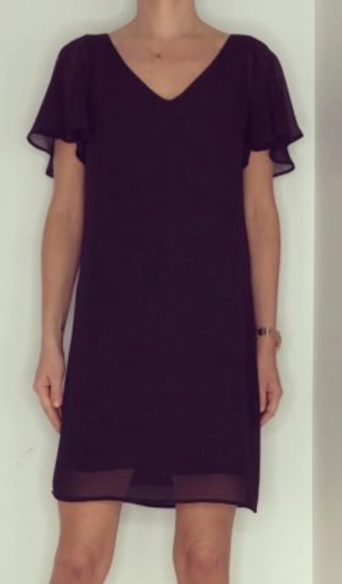 Just Paul Pale Black Papillon Dress