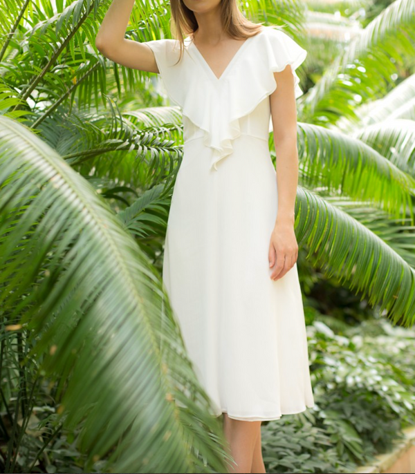 Maare Claudia White Dress