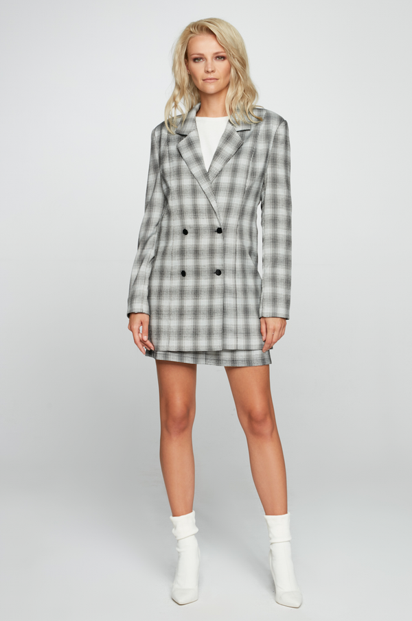 Maare Checkered Suit Set