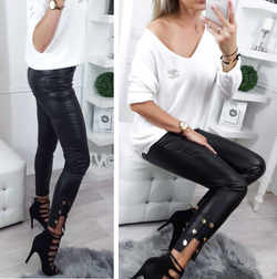 A'la Leather Black Pants Outlet