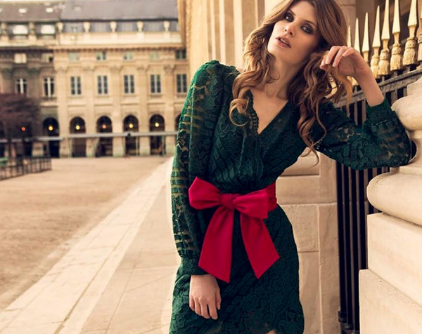 Maare Green Bow Dress