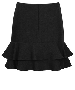 Porte Prive Double Wool Skirt