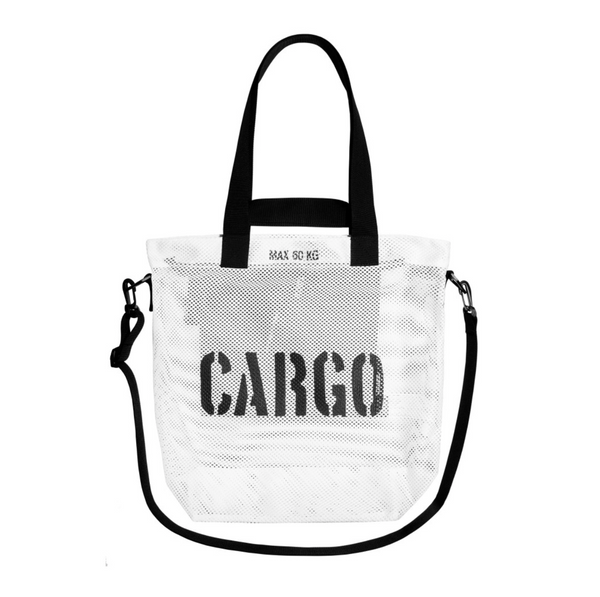 CARGO by OWEE White Medium Mesh Bag