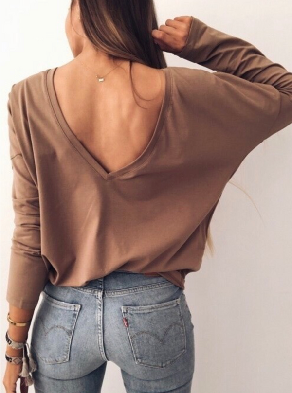 Open Back Shirt Outlet