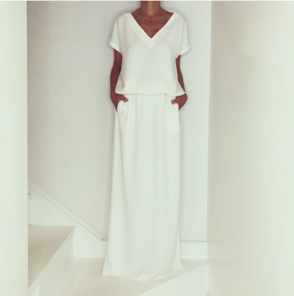 Just Paul Ipanema White Maxi Dress