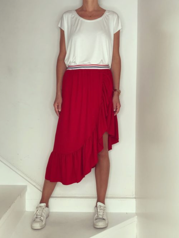 Just Paul Red Passion Babette Skirt