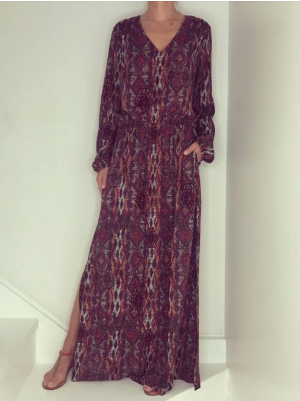 Just Paul Dimond Mosaic Maxi Miami Dress