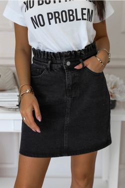 Black Jeans Skirt Outlet