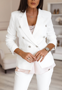 Balmain Blazer jacket White Outlet
