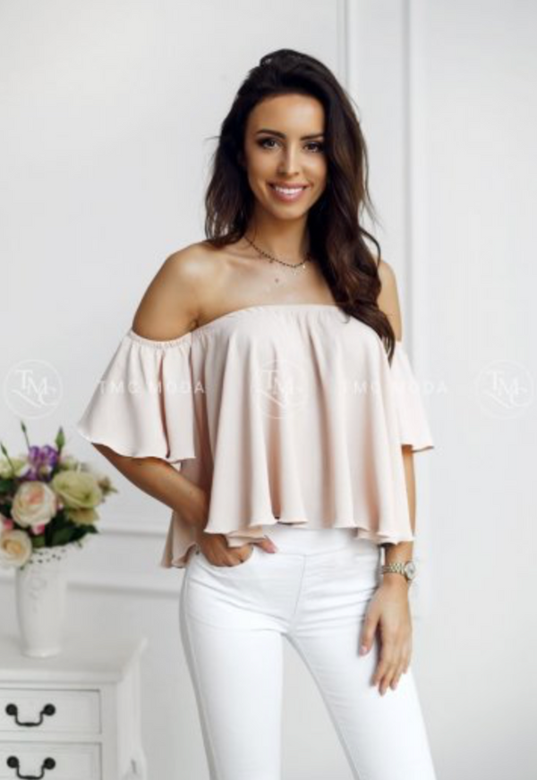 Spanish Ladies Blouse Beige Outlet