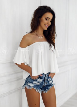 Spanish Ladies Blouse White Outlet