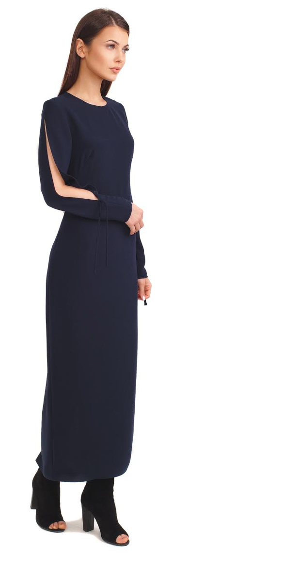 Porte Prive Long Navy Dress