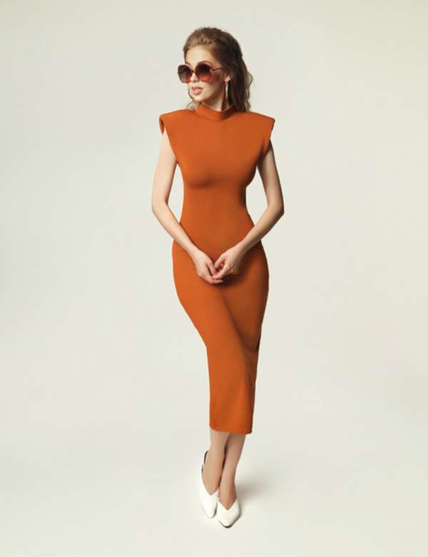 MADNEZZ Jagg Camel Dress