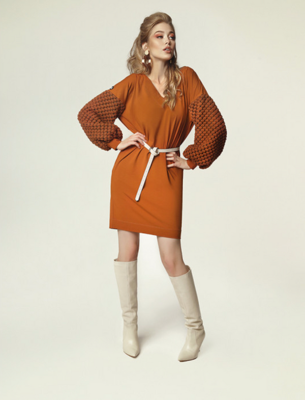 Madnezz Grace Camel Dress
