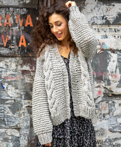 ANGELL 100% WOLL SWEATER CARDIGAN GRAY