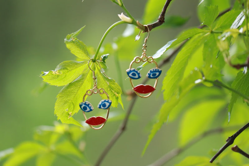 Color Face Earrings