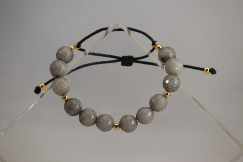 Gray Swarovski Stone Adjustable Bracelet