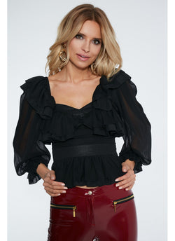Daisy Black Blouse Maare