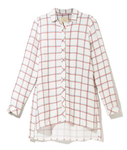Lukasz Jemiol Long Checkered Blouse