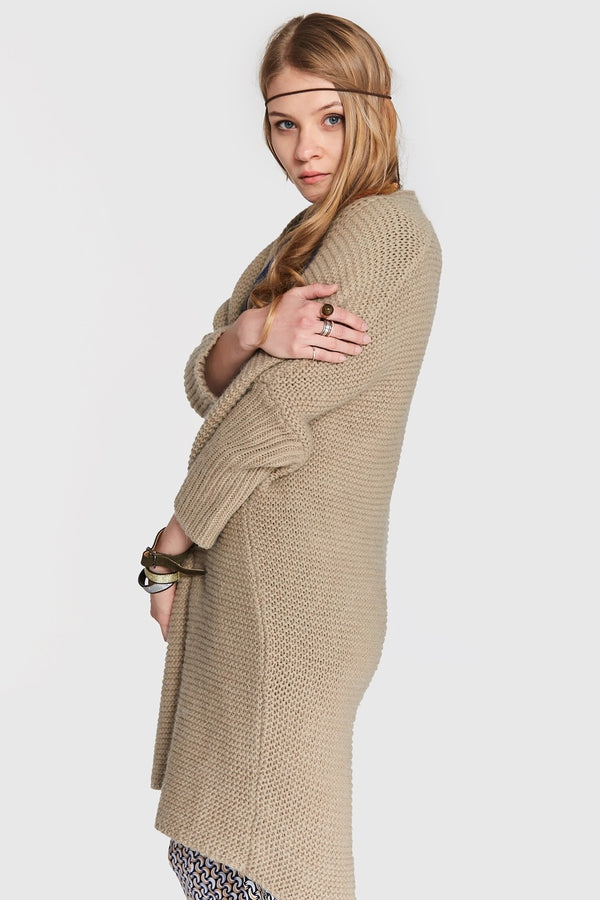 Cardigan Blueshadow Camel Outlet
