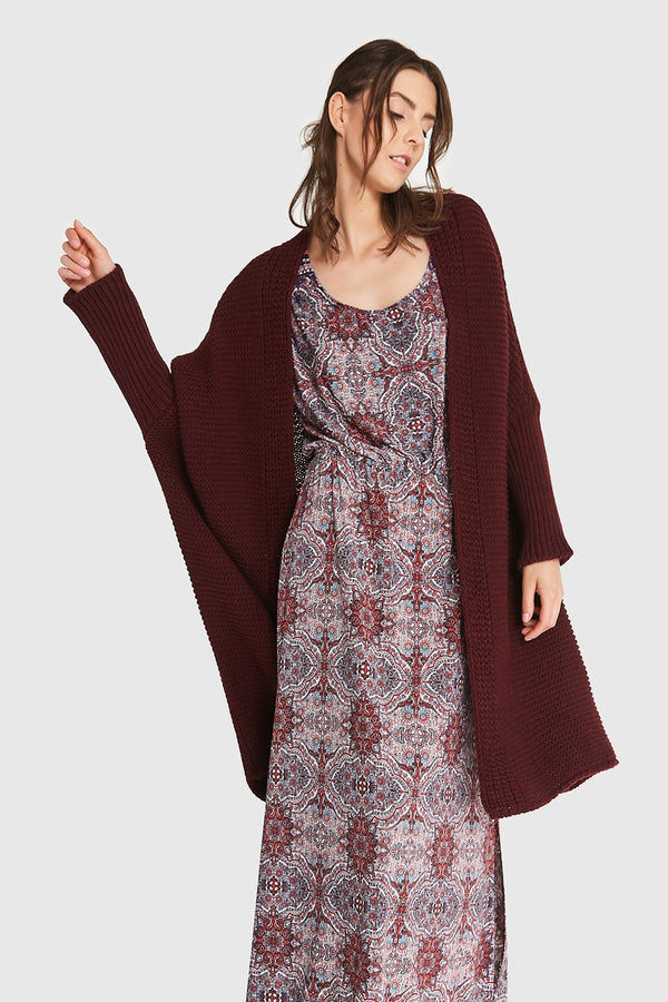 Cardigan Blueshadow Burgundy Outlet