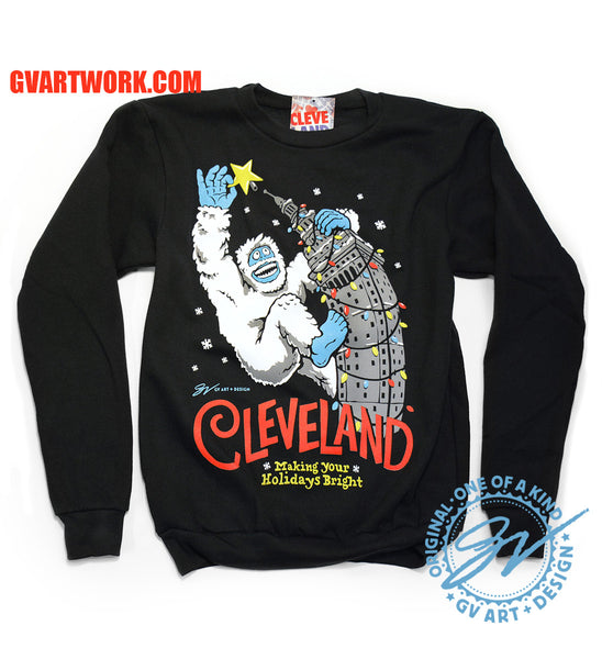 Cleveland Making Your Holidays Bright Crew Sweatshirt