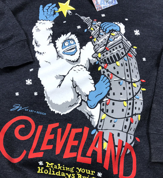 Navy Cleveland Making Your Holidays Bright Crew Sweatshirt